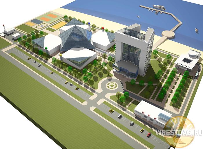Эскиз будущего Центра олимпийской подготовки