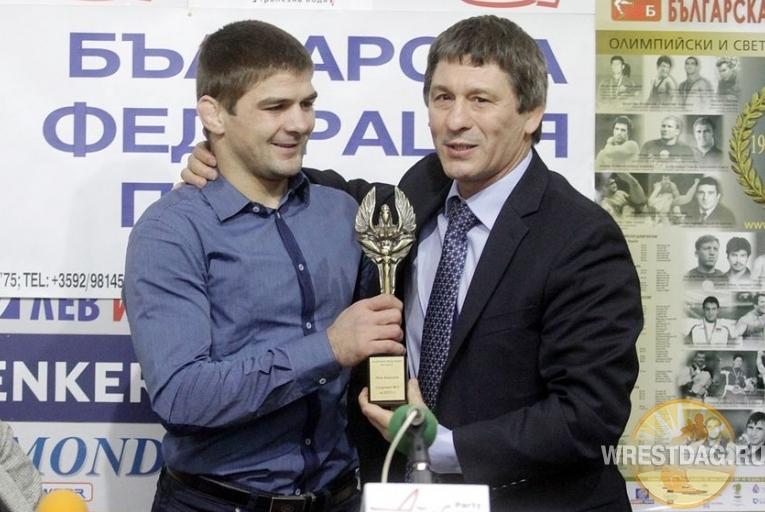 Иво Ангелов и президент Федерации борьбы Болгарии Валентин Йорданов