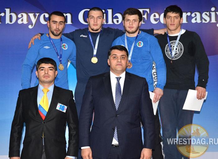 Трое дагестанских борцов стали победителями чемпионата Азербайджана