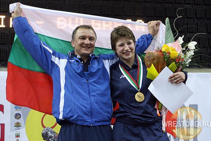 Станка Златева со своим тренером Семеном Штеревым