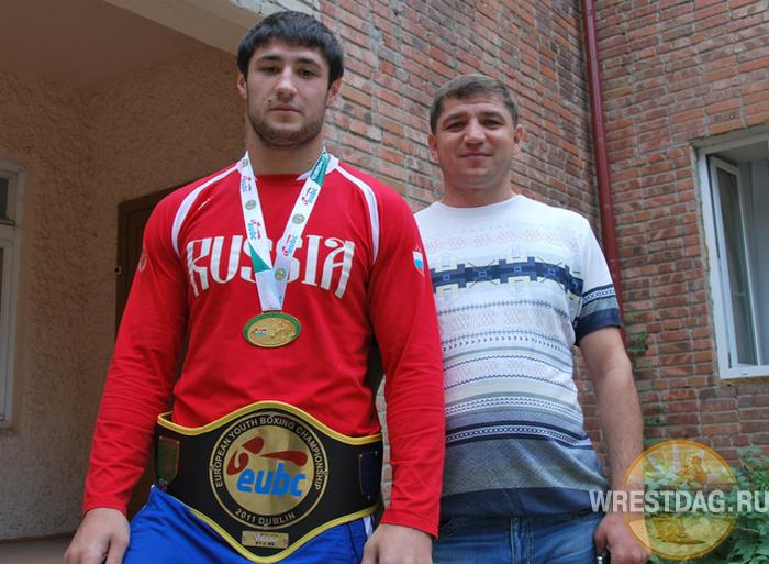 Гасан Гимбатов со своим тренером Казимом Халиловым
