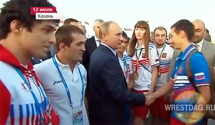 Владимир Путин поздравил победителей и призеров Универсиады в Казани