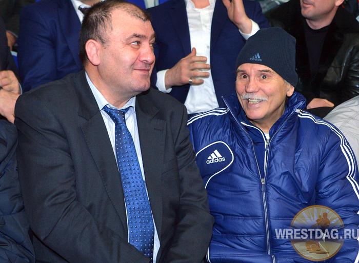 Владимир Юмин с Магомедханом Арациловым  — среди почетных гостей на турнире на призы Курамагомеда Курамагомедова