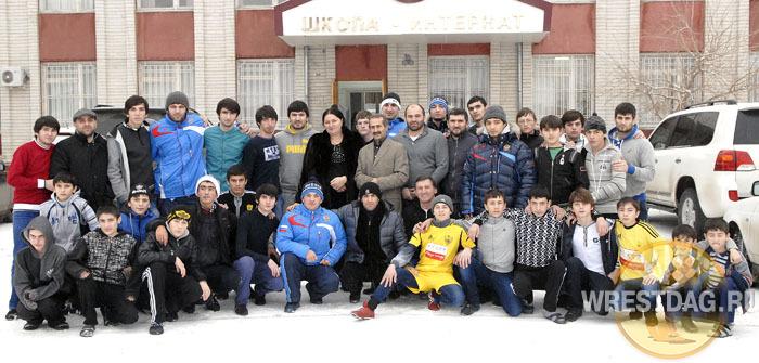 Борцы посетили школу-интернат